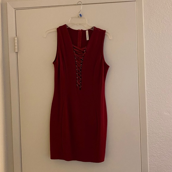 Right red dress